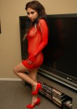 Teen Goes Nude In Her Red Mesh - Picture 7